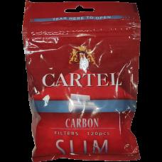 Сигаретные фильтры Cartel Slim Carbon 120 шт.