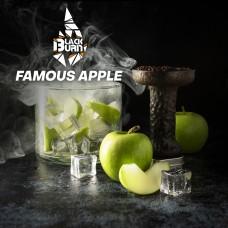 Табак для кальяна Burn Black 200 гр Famous Apple